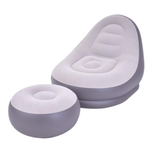 Inflatable Lounger with stool